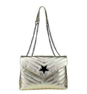 Gold Leather Star Bag